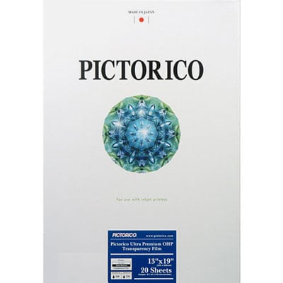 [FILM-ULTRAOHP-1319] Pictorico Ultra Premium OHP film 13x19 20 sheets