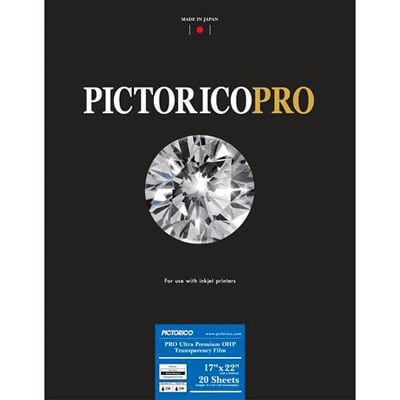 [FILM-ULTRAOHP-1722] Pictorico Ultra Premium OHP film 17x22 20 sheets