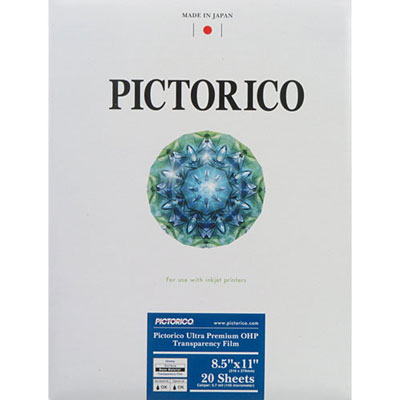 [FILM-ULTRAOHP-08511] Pictorico Ultra Premium OHP film 8.5x11 20 sheets