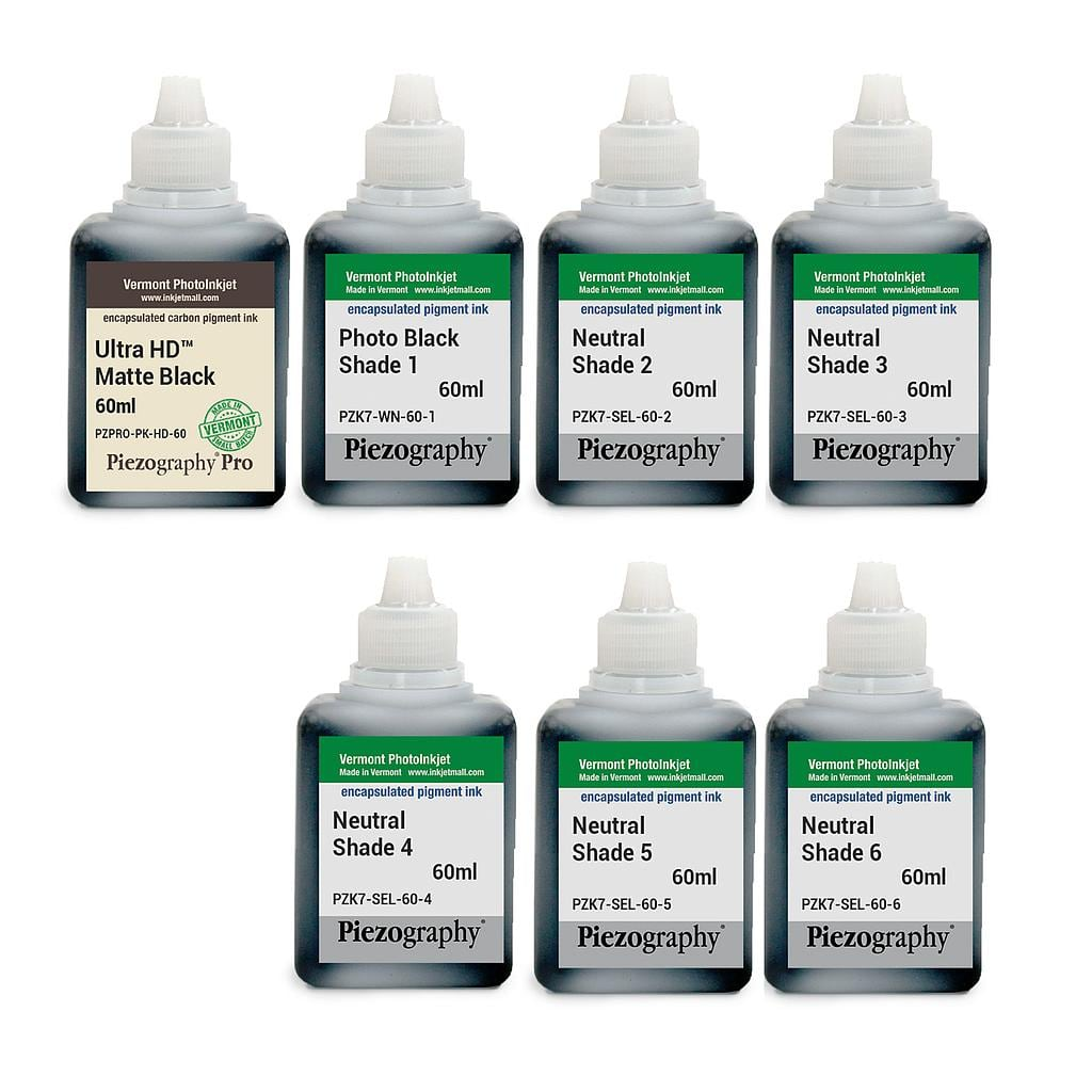 [PIEZODN-NU-60-SET7HD] Piezography K6, Neutral Tone, 60ml, Set of 7 Inks (PiezoDN and matte only)