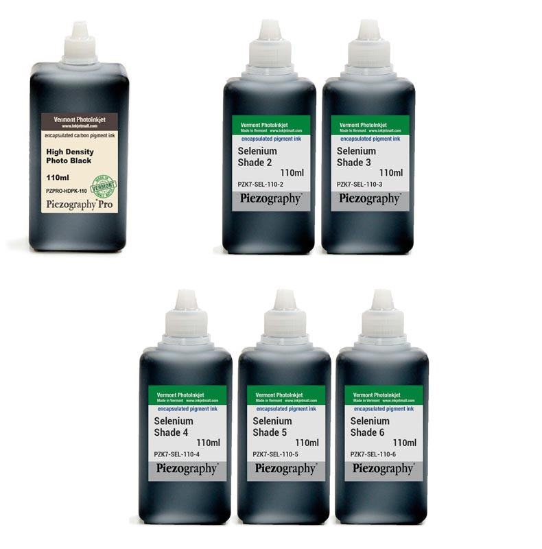 [PIEZODN-SEL-110-SET6] Piezography K6, Selenium Tone, 110ml, Set of 6 Inks (Gloss only)