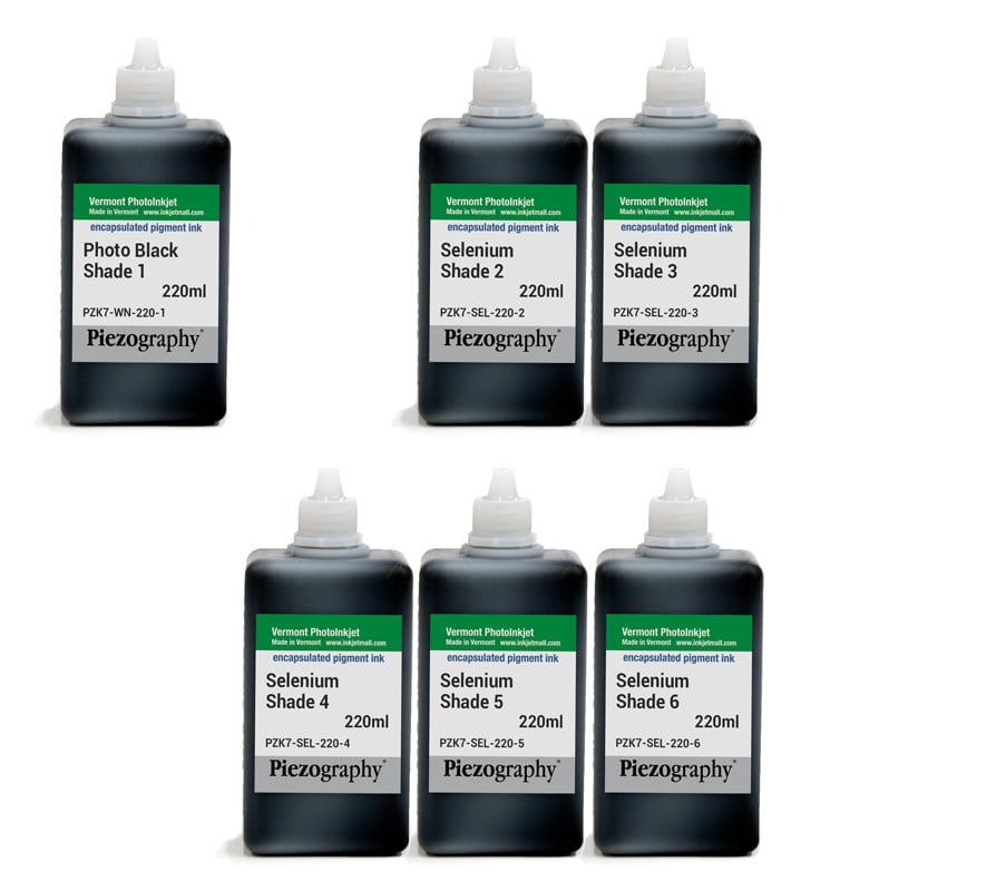 [PIEZODN-SEL-220-SET6] Piezography K6, Selenium Tone, 220ml, Set of 6 Inks (PiezoDN only)