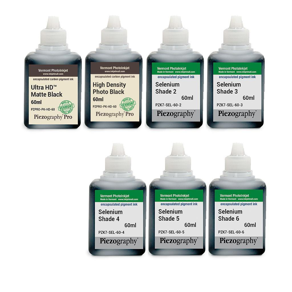 [PIEZODN-SEL-60-SET7HD] Piezography K6, Selenium Tone, 60ml, Set of 7 Inks (PiezoDN and HD Matte printing)