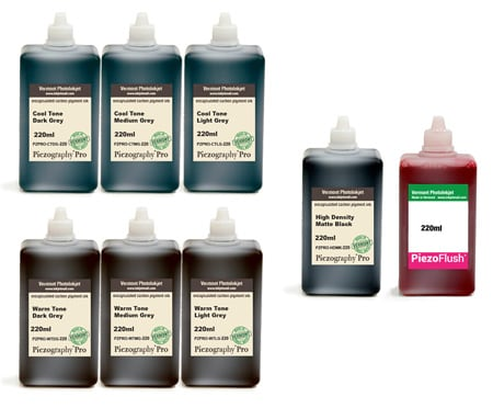 [PZPRO-220-SET8M] Piezography Pro, BW Toning system, 220ml, Set of 8 Inks (matte only)