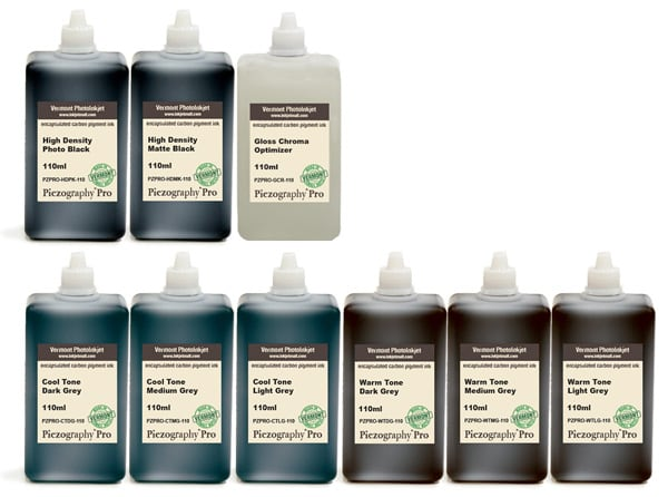 [PZPRO-110-SET9] Piezography Pro, BW Toning system, Set of 9 Inks - 110ml