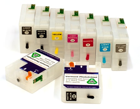 [RCS-3880-80-KIT9-NS] Refillable Cartridge Kit - Epson 3880 (or P800 with Decoder Board) - without syringes