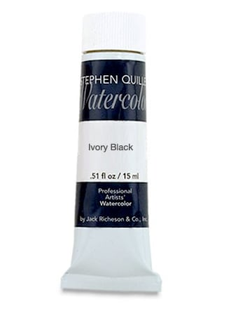 [ACC-QUILLER-IVORY] Stephen Quiller Professional Watercolor - Ivory Black - 15ml