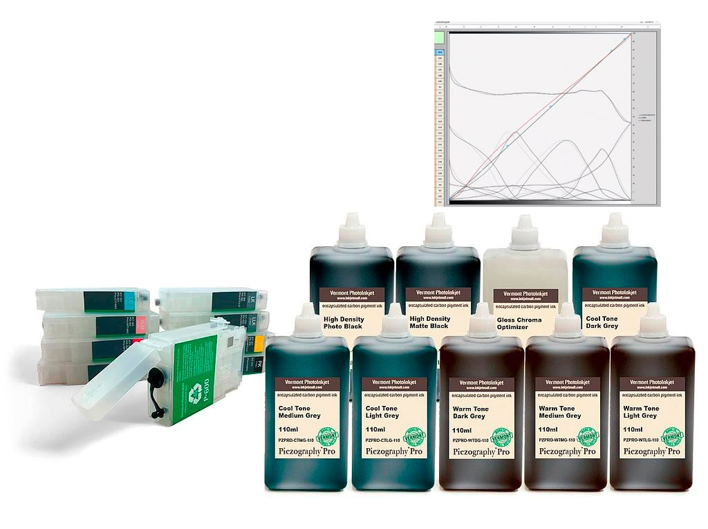 [PZPRO-P600-110-KIT9] SureColor P600 - Piezography Pro Complete Print & Digital Negative System, 110ml