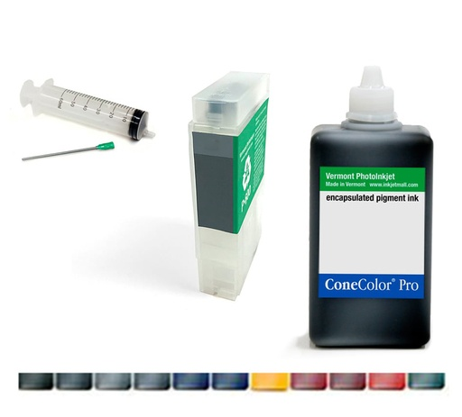 Ink and Cartridge Combo Sets for Epson SureColor P600, 60mL or 110mL, All Colors