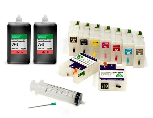 [P800-UV45-SCREEN-PRINT-KIT] Epson SureColor P800 UV45 All Channels Black Ink Screen Print Kit