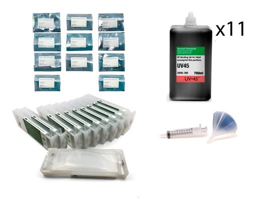 [UV45-P9000-Screen-Print-Kit] Epson SureColor P7000 or P9000 UV45 All Channels Black Ink Screen Print Kit