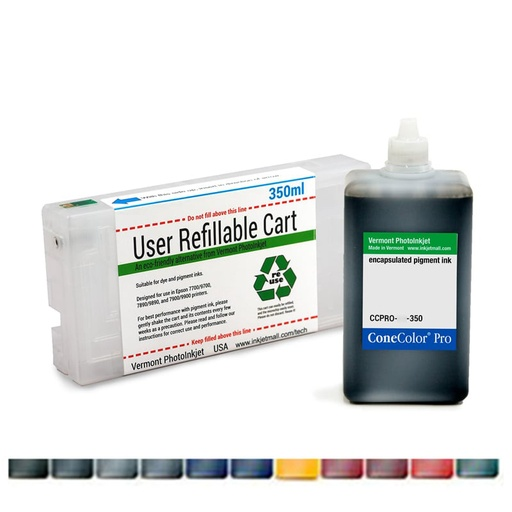 ConeColor Pro for Stylus Pro 7890 7900 9890 9900 combo set with Refill cart and 350mL or 700mL ink, Any Color